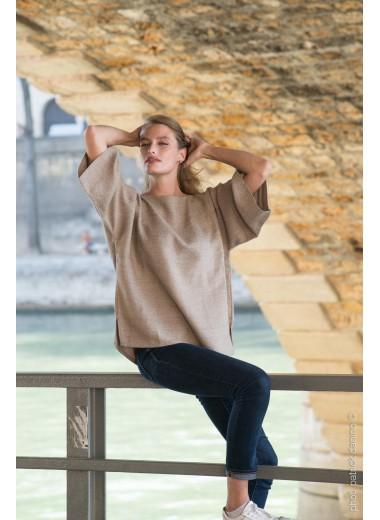 Hand woven top Adele