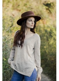 Deep V-neck sweater Vera