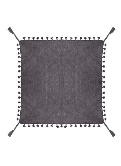 Big square shawl with pompoms