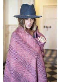 Maxi Shawl - Herringbone plaid