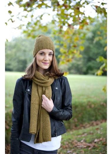 Hand knitted Alpaca scarf