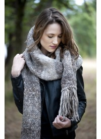 Grosse écharpe Janis en laine d'Alpaga filée main